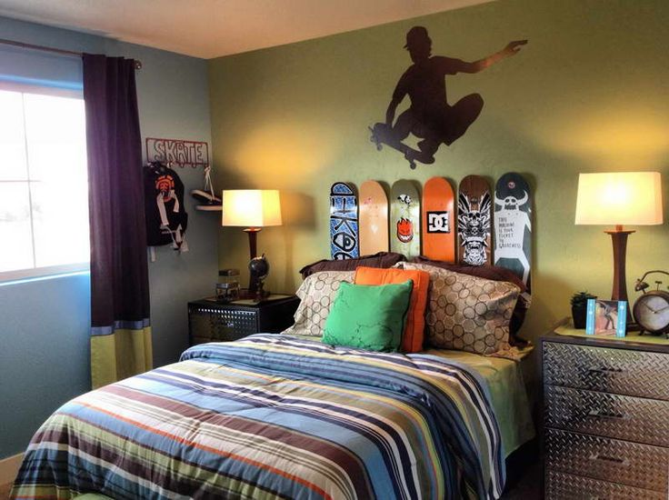 skateboard bedroom decor for kids