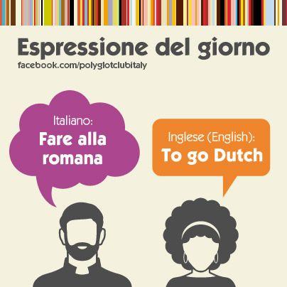 Italian / English idiom: to go Dutch