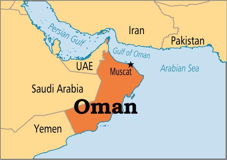 Oman Map Arabian Niemimaa Iraq Jemen Jordania Kuwait Oman - Oman map