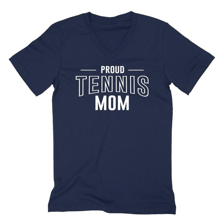 Proud tennis mom team squad game day sport mom love tennis Mother's day  V Neck T Shirt