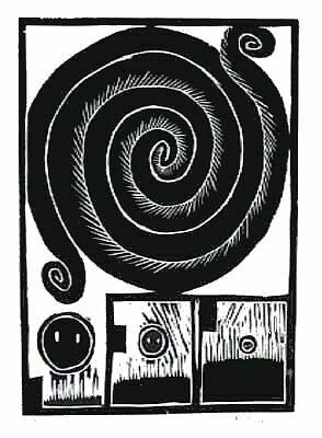 """Alechinsky, """"Pierre spirale"""""""