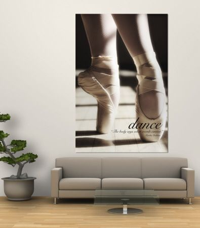 Dance Ballet Slippers Wall Mural for bedroom