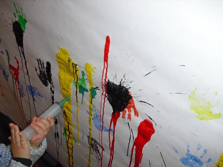 ¡Disparando pintura!
