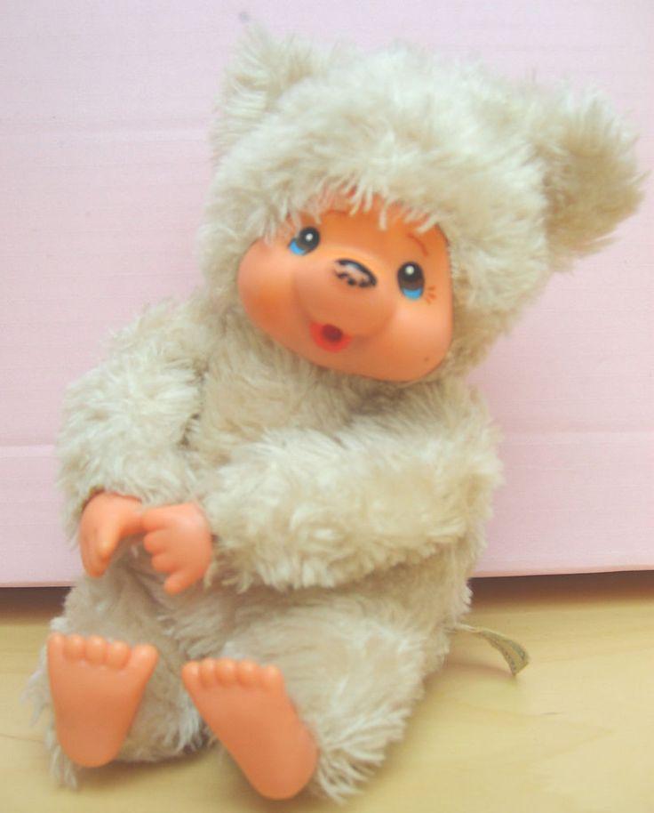 Monchhichi, Monchichi Bär, sitzend, beige  | eBay