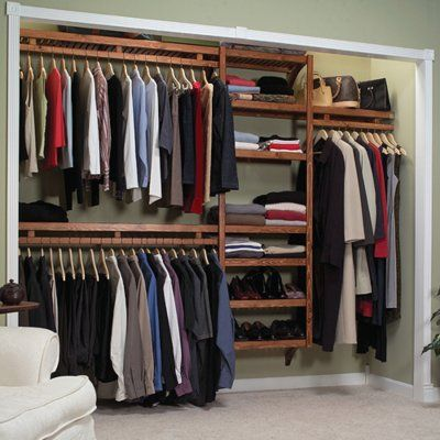 walkin closet design 5 x 11 | Closet Design Ideas and Walk in Closet Designs: Solid Wood Closet ...