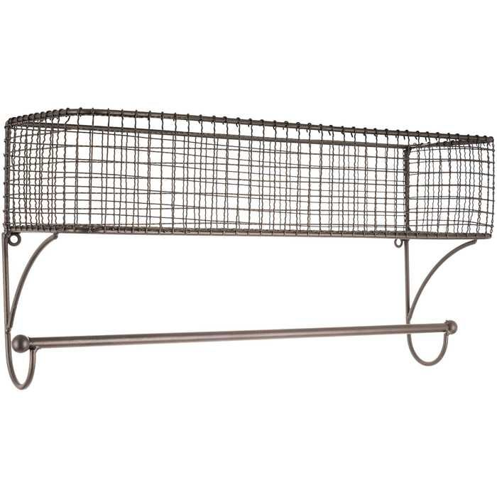 Black Iron Wire Wall Basket with Rod | Hobby Lobby | 1118264