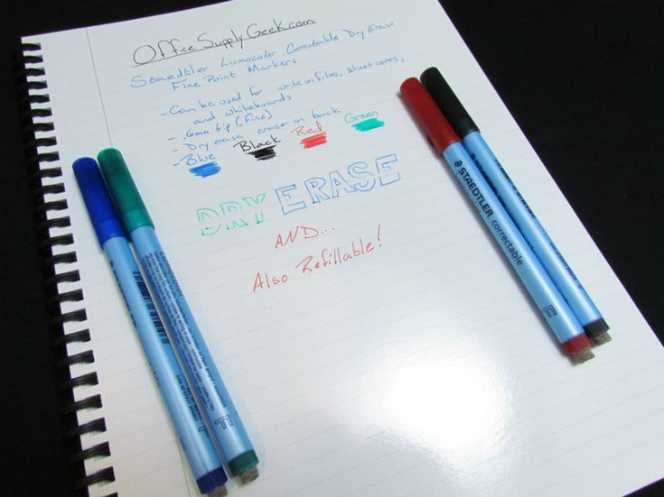 Staedtler Lumocolor Correctable Fine Point Dry Erase Markers
