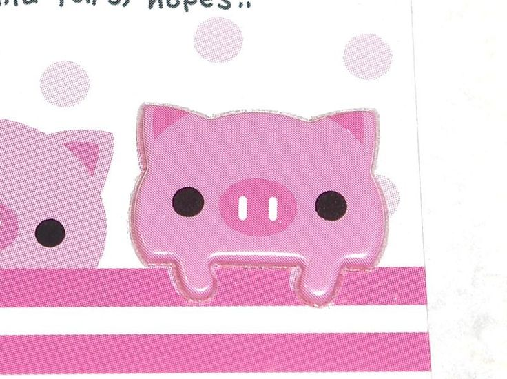 Sticker and Paper Pop N Friends Pig - Scrapbooking by TheKawaiiSupplyShop on Etsy