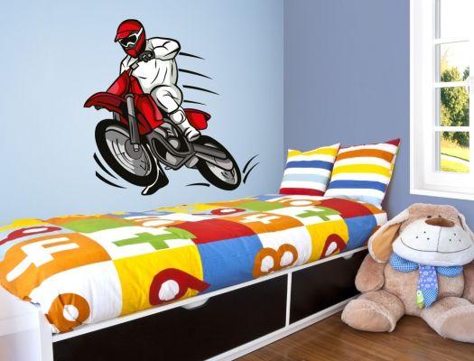 Fabulous Wandtattoo Motorradbild in Farbe f r das Jugendzimmer