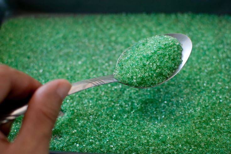 How to Make Salt Glitter -- via wikiHow.com Salt Food coloring Cooking tray Timer Aluminium foil Oven