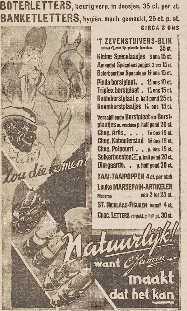 Sinterklaas advertentie 1934