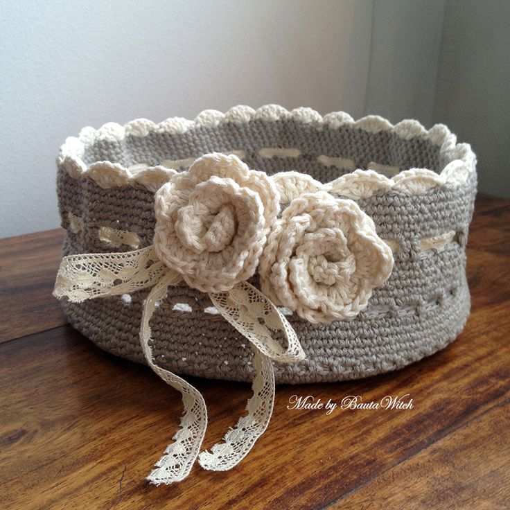 Crocheted basket Made by BautWitch DIY - I'll show you how!  http://bautawitch.se/2013/04/19/pysselkvall/