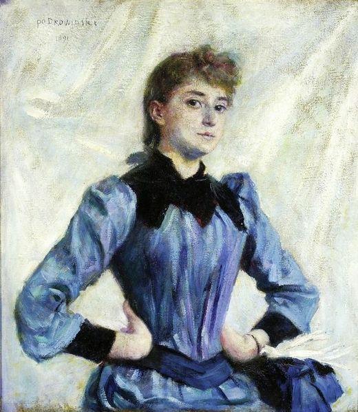 Podkowiński, Wladyslaw, (1866-1895), Study of a Blonde, 1891, Oil