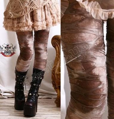 EGYPT MUMMY Decay Ragged HOLE Legging MUD ROCK CANYON | eBay Minus the boots - love it!!