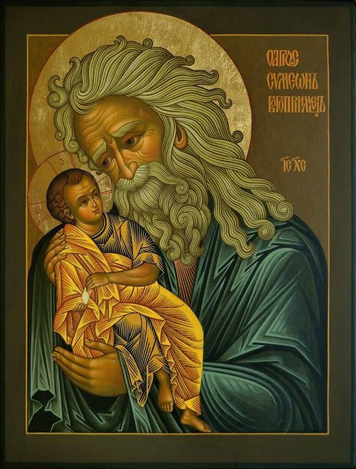 St Simeon Look at that hair!!! The Patron of my son. Thanks Catherine