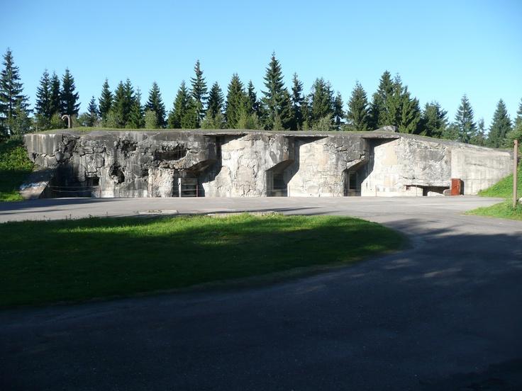 Czech - dělostřelecký bunkr pevnosti Hanička. Artillery bunker fortress Hanička