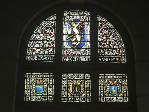 antique stained glass at Museum Bank Indonesia Jakarta (thanks to JJ for correcting) cheers... :)