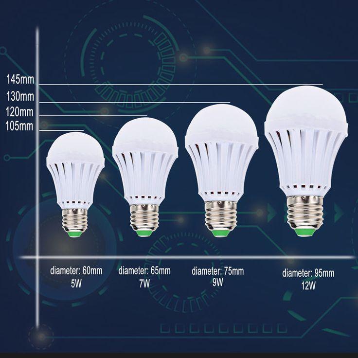LED E27 Energy Saving Rechargeable Intelligent Light Bulb Lamp Emergency Lights | eBay