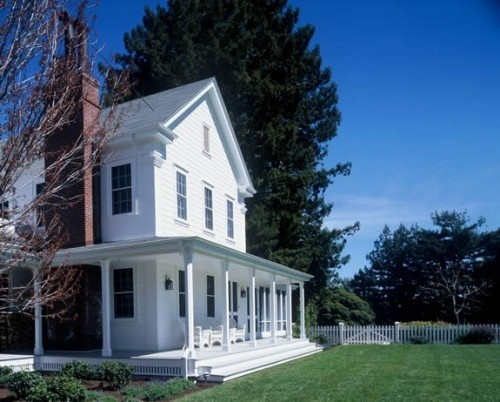 Farmhouse porch (addition?) Houzz: Farms Houses, Dreams Home, Dreams Houses, Front Porches Design, Gast Architects, Picket Fence, Traditional Exterior, Farmhouse Style, Wraps Around Porches