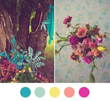 #colorcollectiveColors Collection, Pretty Colors, Summer Parties, Colors Palettes, Colors Schemes, Parties Palettes, Bright Flower, Colours Palettes, Colorpalette Colorschemes