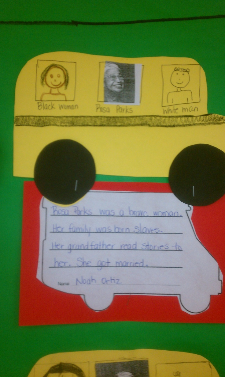 best ideas about rosa parks pictures rosa parks rosa parks writing activity