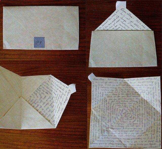 Envelope as a letter is a nifty thing! And I'm rather thinking of two friends in particular!  http://@Karin H Waller http://@Lulu Ormes