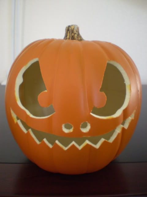 how to make a fake halloween pumpkin