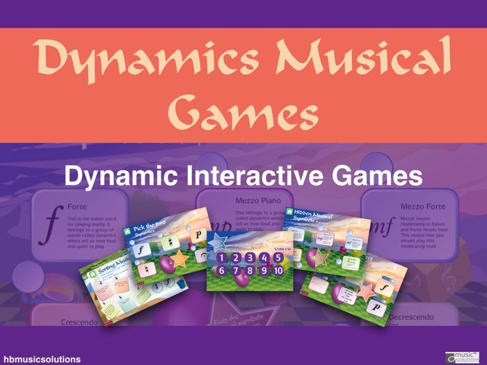 Dynamics Units 1 - 10 Music Interactive Games