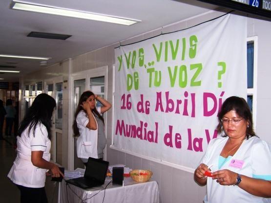 Día Mundial de la Voz en el Hospital Regional - 16 de abril
