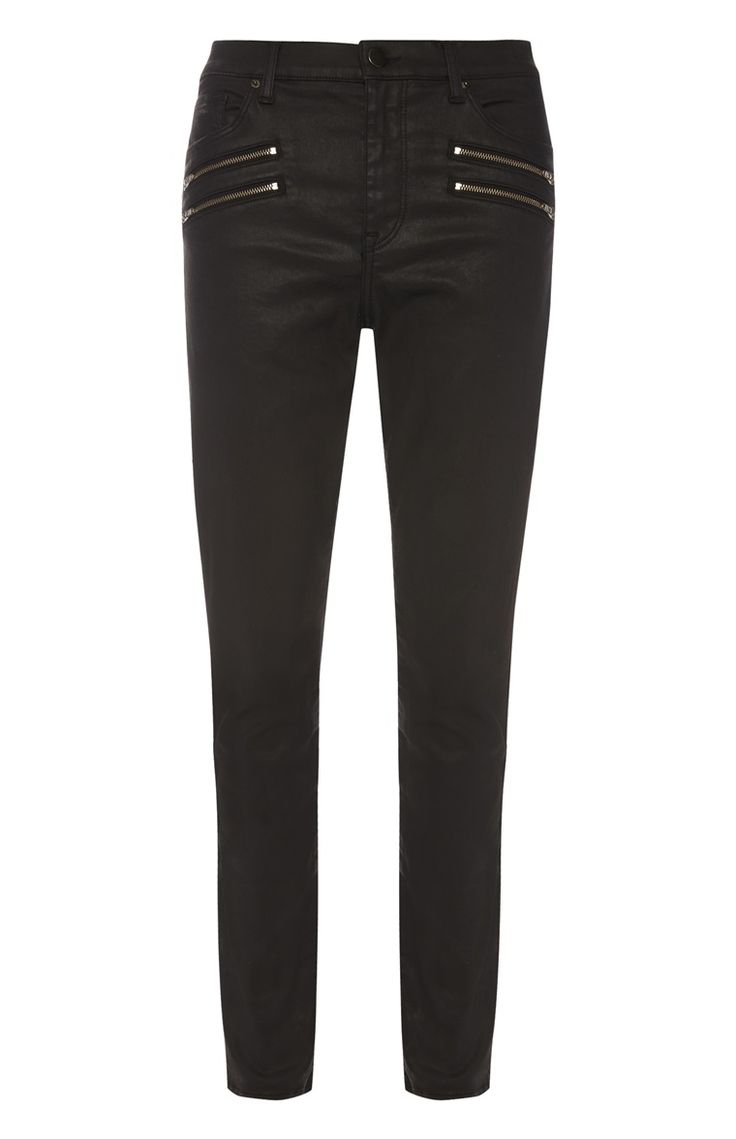 Primark - Zwarte skinny jeans met coating