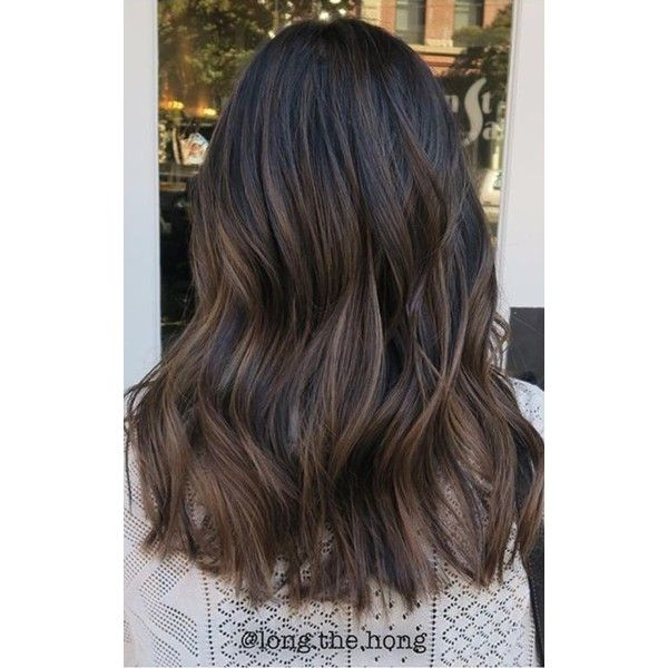 The 25 best balayage black hair ideas on pinterest black 83 new brilliant balayage black hair color ideas to inspire you liked on polyvore featuring urmus Gallery
