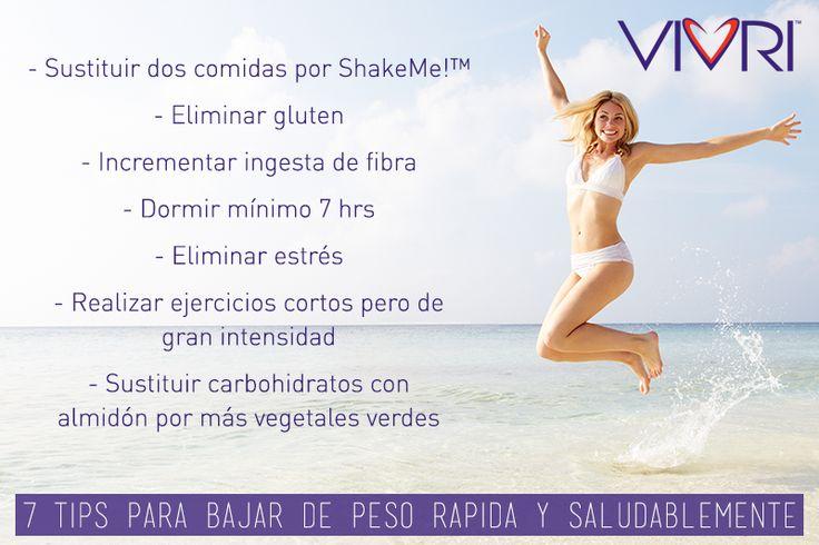 7 tips para bajar de peso ! Hazlo con Vivri.  #healthy #myvivri  www.vivri.com/mariajimenez 4777650873