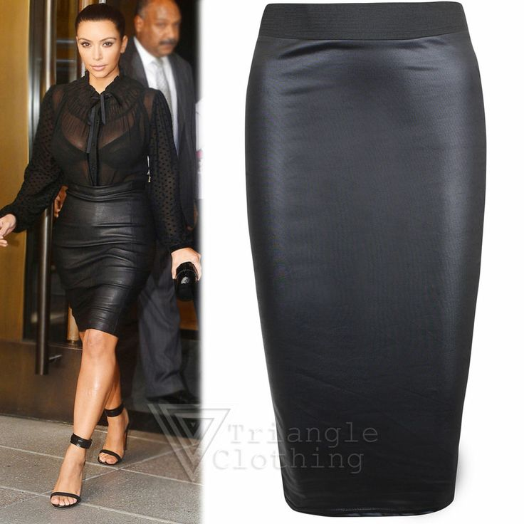 19 best faux leather pencil skirt outfit images on Pinterest