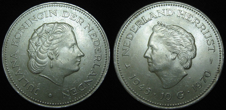 Netherlands 10 Gulden Juliana 1970