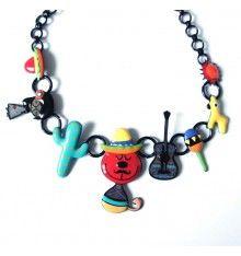 Collier tom mexicain rouge de la marque lolilota (lol bijoux)