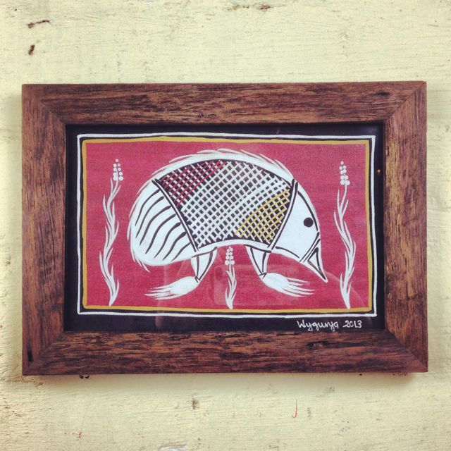 Hand painted on acrylic and framed in our native Victorian Ash timber frame. The perfect Australian souvenir