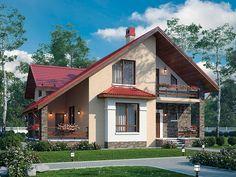 Фото проекта дома из кирпича 74-50