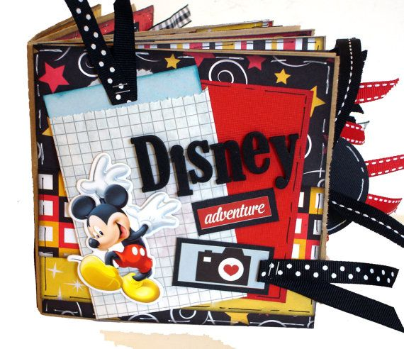 Disney Vacation Paper Bag Scrapbook - Mickey and Minnie Scrapbook - Paper Bag Album