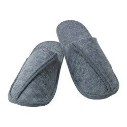 IKEA - VINTER 2016, Slippers, L/XL, , The anti-slip sole provides a good grip and stability.