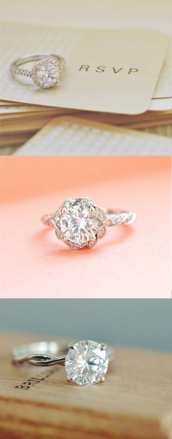 Love the elegant detail of these stunning diamond engagement rings. ==