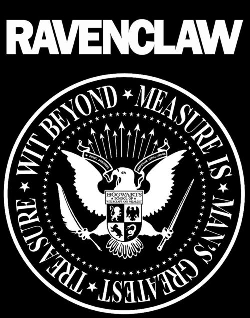 Excuse me? Did someone turn the Ramones logo into a Ravenclaw logo?LET ME LOVE YOU.