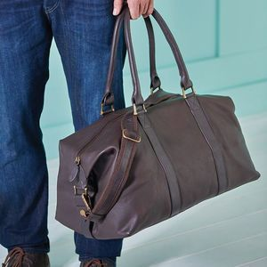 Anthony Handmade Leather Weekend Holdall. Discover thoughtful, personal and wonderfully unique gifts for him this Christmas. You won't be short of ideas.