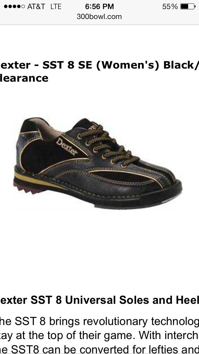 Dexter Sst  Se Womens Bowling Shoes Black Gold