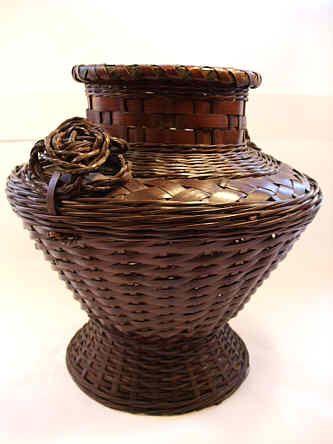 A Japanese bamboo Hana Kago, flower basket