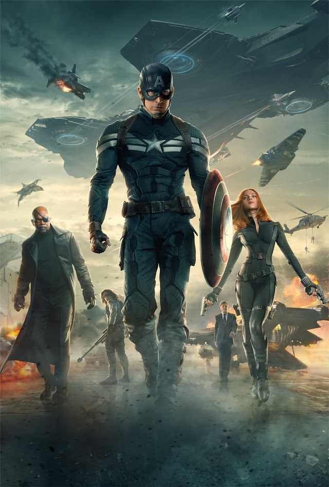 ec6fef0517 Captain America  The Winter Solider  Hi-Res Textless Poster ...