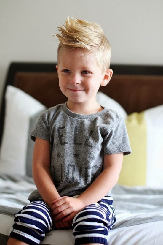 Such a cute haircut on this little boy