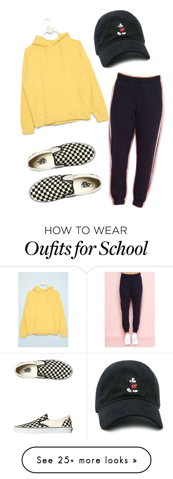 """""""school"""" by chloeadaviesv on Polyvore featuring Vans and Forever 21"""