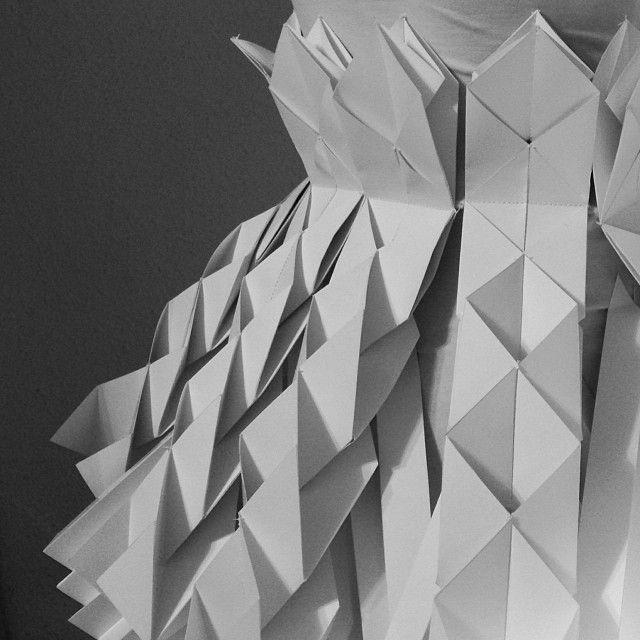 Paper Dress. Detail. // Edinas Paper Installations