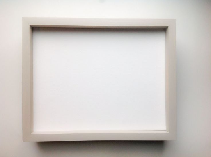 """Custom Frame for Canvas Painting in Light Sand. This frame gives any depth canvas a 2"""" profile and only covers about 1/8"""" of the artwork. Covers unpainted edges or straggly canvas corners"""