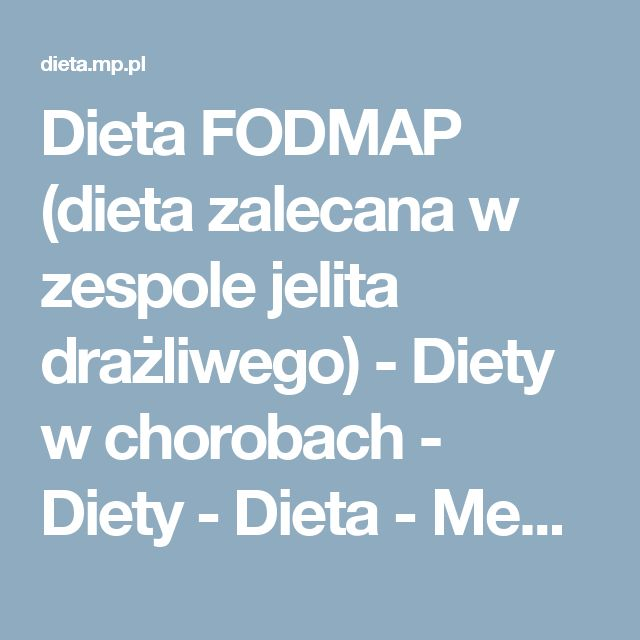 Fobmap Food List